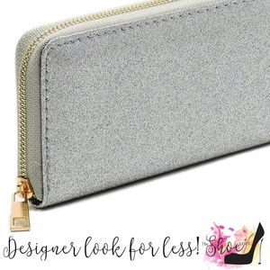 My Bag Lady Online Bags - Glitter Wallet Choose Silver or Pewter